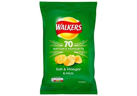 Walkers Crisps Salt & Vinegar 6 Pack