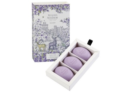 Woods of Windsor Lavender Fine English Soap 3 x 60 gr