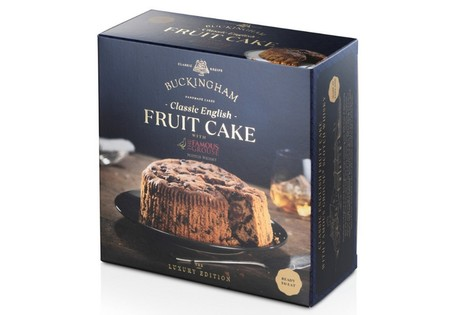 BUCKINGHAM Classic English Fruit cake flavoured with The Famous Grouse Scottish Whisky 280g