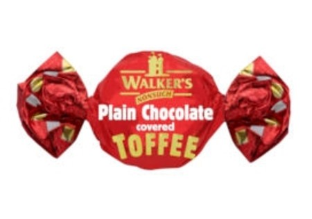 Walkers Nonsuch Plain Choc Toffee Bag 165 G