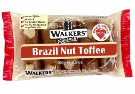 Walkers Nonsuch Brazil Nut Toffee Slab 100g