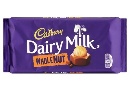 Cadbury  Dairy Milk Whole Nut bar 200g