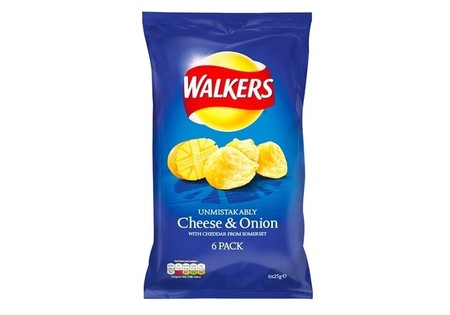 Walkers Cheese & Onion 6 Pack