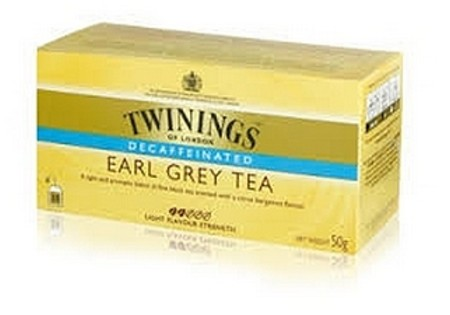 Twinings Zwarte Thee Earl grey decafé 25 st