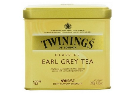 Twinings Zwarte Thee  Earl Grey losse thee in blik 200gr