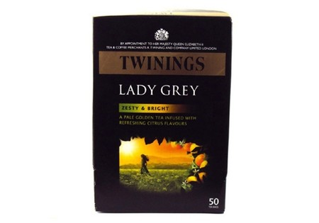 Twinings Black Tea  Lady Grey Tea Bags 50s
