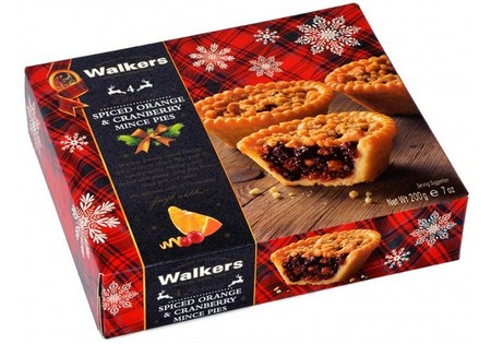Walkers Spiced Orange Cranberry Mince Pies 200g